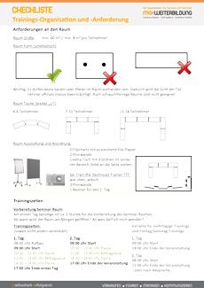 Checkliste Training Organisation Anforderungen fk-Seite 1
