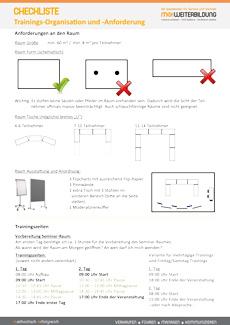 Checkliste Training Organisation Anforderungen pv-Seite 1
