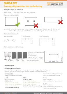 Checkliste Training Organisation Anforderungen us-Seite 1