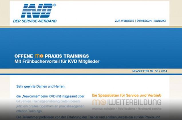 KVD Newsletter offene Trainings me Weiterbildung