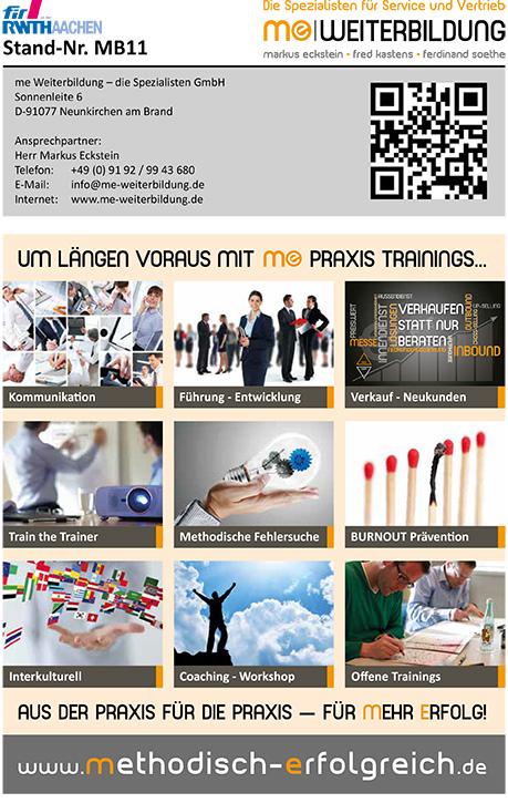 18. Aachener Dienstleistungsforum me Weiterbildung