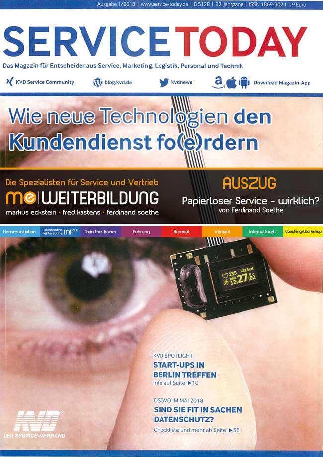 KVD ServiceToday 1 18 TITELTHEMA WIE NEUE TECHNOLOGIEN DEN KUNDENDIENST FO(E)RDERN